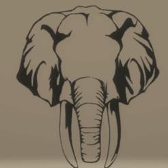 Télécharger plan imprimante 3D décoration murale éléphant, satis3d