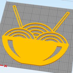 Imprimir en 3D gratis decoración de pared tazón de pasta, satis3d