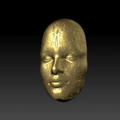 4.png Télécharger fichier STL décoration murale visage de femme • Design à imprimer en 3D, satis3d