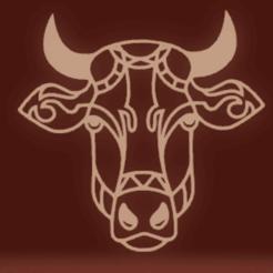 c1.png Download STL file wall decor cow • 3D print template, satis3d
