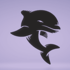 c1.png Download STL file wall decor dolphin • 3D printer template, satis3d