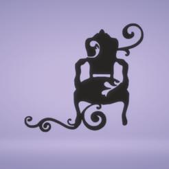 c1.png Download STL file wall decor chair • 3D print model, satis3d