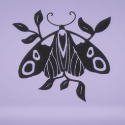 c1.png Download STL file wall decor moth • 3D printer model, satis3d