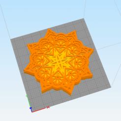 c1.png Télécharger fichier STL décor mural floral 3d mandala • Plan imprimable en 3D, satis3d