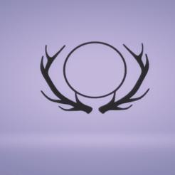 c1.png Download STL file wall decor reindeer monogram frame • 3D printable object, satis3d