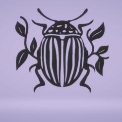 c1.png Download STL file wall decor rockefeller beetle • Model to 3D print, satis3d