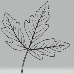 c1.png Download STL file wall decor leaf set • 3D printable template, satis3d