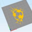 c2.png Download STL file wall decor soccer ball cracks • 3D printer design, satis3d