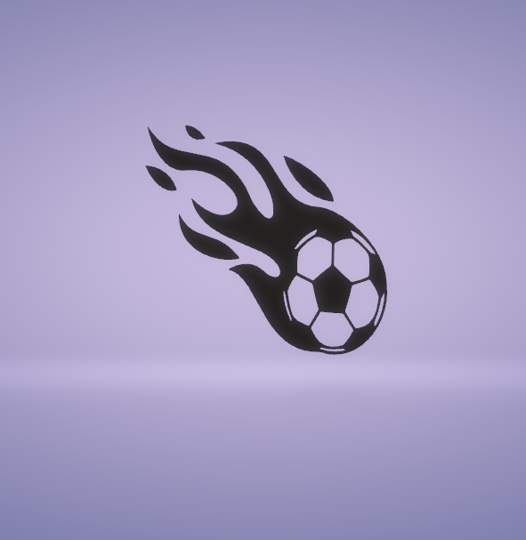 c1.png Download STL file wall decor flaming soccer ball • Design to 3D print, satis3d