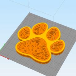 c1.png Télécharger fichier STL décoration murale 3d paw print mandala • Objet à imprimer en 3D, satis3d