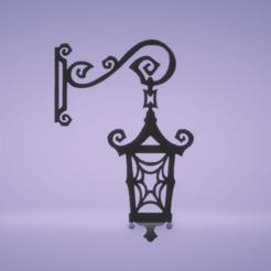 c1.png Download STL file wall decor street lamp • 3D printing model, satis3d