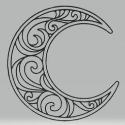 Télécharger fichier imprimante 3D décoration murale lune, satis3d
