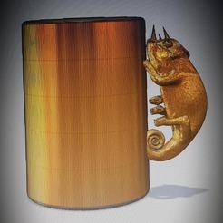 3D printer files chameleon cup, ibizaroullier03
