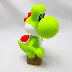 Download free STL Yoshi from Mario games - Multi-color, 3DRicks