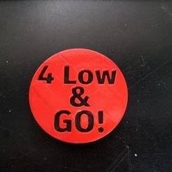 Download free 3D printer templates 4 Low & Go!  emblem, Psychobillyman