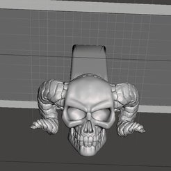 Download free 3D printer files Demon Skull (v3 by Arkleseizure) Hitch Cover - 2-inch, Psychobillyman