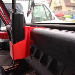 Télécharger fichier imprimante 3D gratuit Jeep YJ - Support de tableau de bord CB portable Uniden, Psychobillyman