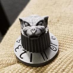 Download free 3D printer model guitar / amp knob goes to 11 w/ Gargoyle head, Psychobillyman