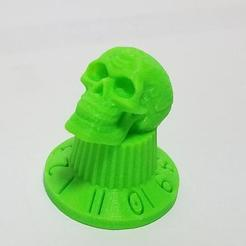 Download free 3D printing files Guitar / Amp knob w/ Celtic Skull (These go to 11!), Psychobillyman