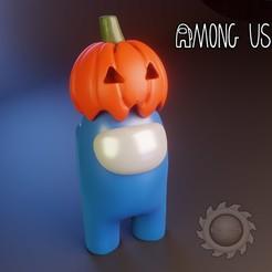 AMONG editable.jpg Download STL file AMONG US HALLOWEEN • 3D printable template, animatikafilms