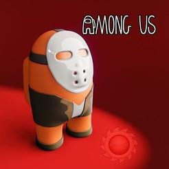 AMONG editable.jpg Descargar archivo STL AMONG US JASON • Diseño para la impresora 3D, animatikafilms