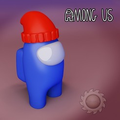 AMONG gorrito.jpg Télécharger fichier STL ENTRE NOUS • Modèle à imprimer en 3D, animatikafilms