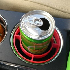 Free STL files 2013 Ford Flex 8 or 12 oz slim can cup holder adapter, CaptainPotato