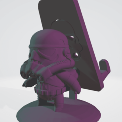 3D printing model Star Wars - Stormtrooper - Cellular Holder, saezdaniel1993