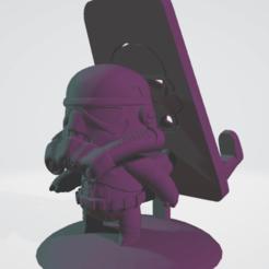Download 3D printer designs Star Wars - Stormtrooper - Cellular Holder, saezdaniel1993