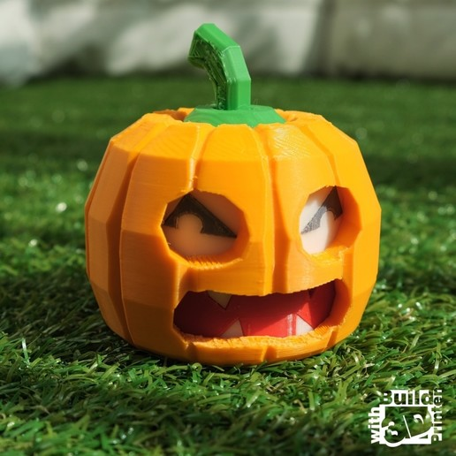 pumpkin_1_1_01.jpg Download free STL file Face Changing Halloween Pumpkin • Design to 3D print, Jwoong