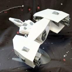 008.jpg Télécharger fichier STL gratuit Vaisseau spatial de type A • Plan à imprimer en 3D, Jwoong