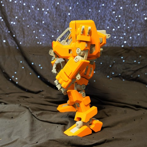 009.jpg Download free STL file Heavy Construction Walker (Action Figure) • Object to 3D print, Jwoong