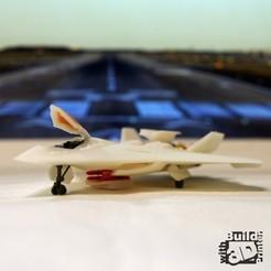 jet_1_1_02.jpg Download free STL file Stealth Air Fighter • 3D printer design, Jwoong