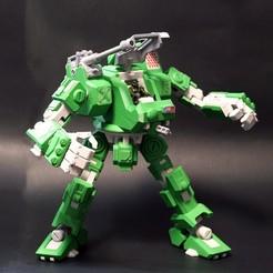 009.jpg Download STL file Heavy Artillery Walker (Action Figure) • 3D print model, Jwoong
