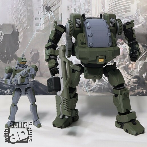 HGW_1_1_13.jpg Download STL file Heavy Gun Walker • 3D print design, Jwoong