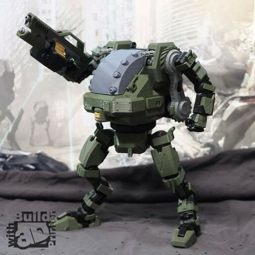 HGW_1_1_05.jpg Download STL file Heavy Gun Walker • 3D print design, Jwoong