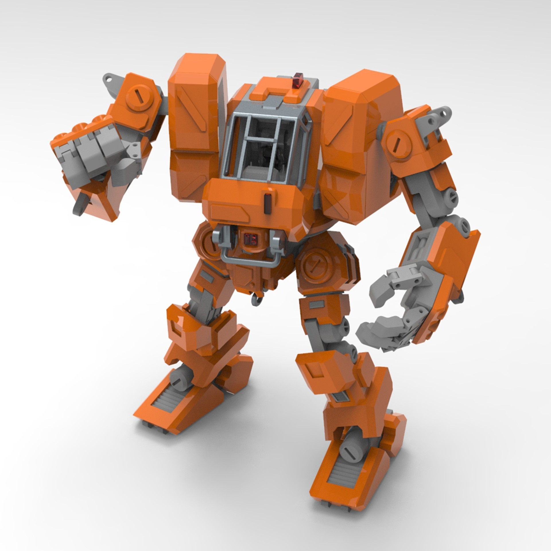 001.jpg Download free STL file Heavy Construction Walker (Action Figure) • Object to 3D print, Jwoong