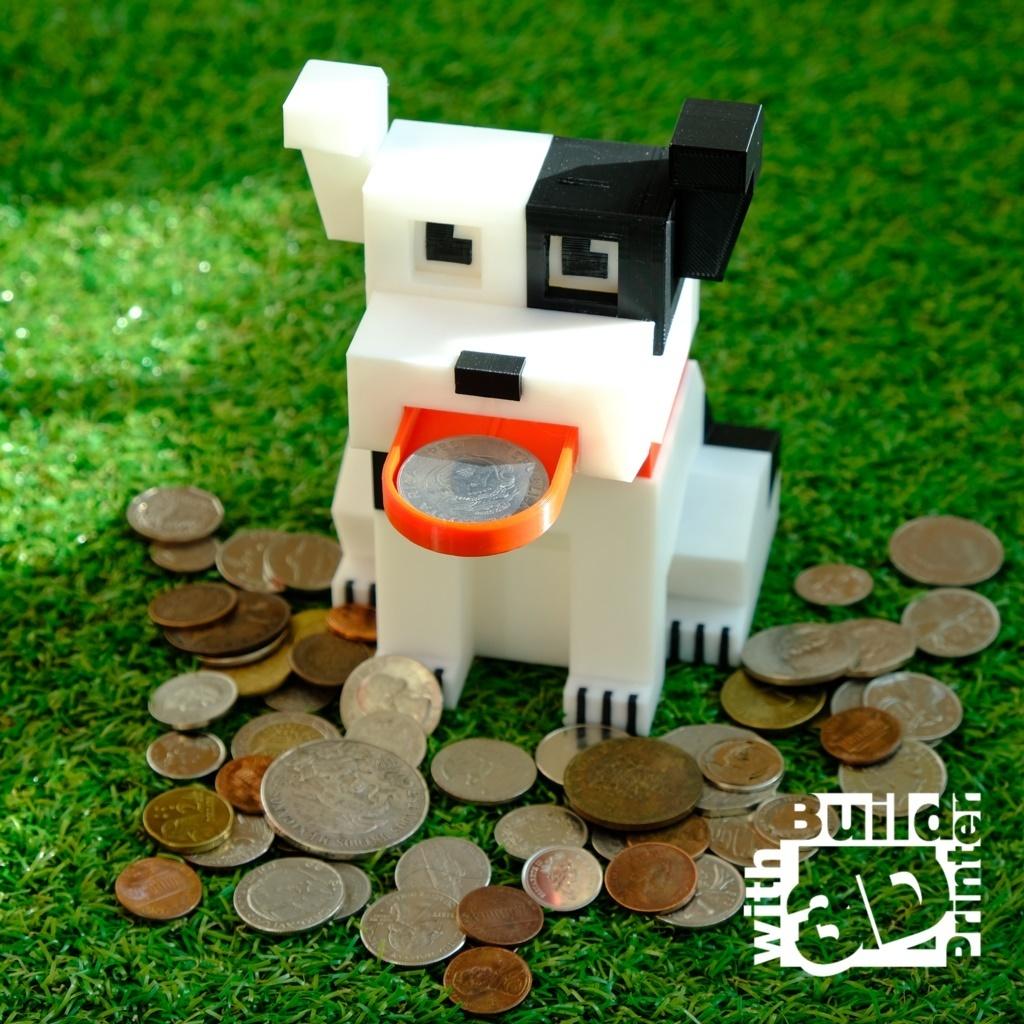 dog_1_1_01.jpg Télécharger fichier STL gratuit Banque de pièces de monnaie pour chiens • Design pour impression 3D, Jwoong