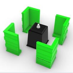 Descargar archivo STL molde cuadrado para maceta • Modelo para imprimir en 3D, DecoPrint3D