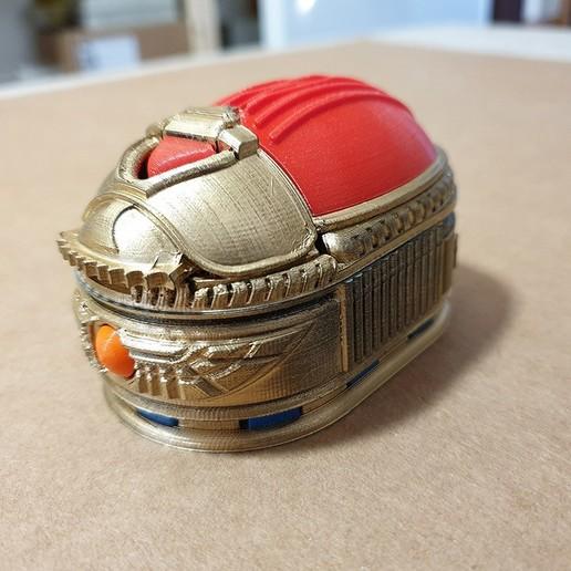 Download free 3D model Scarab Beetle Box (with secret lock), tomasrepisky