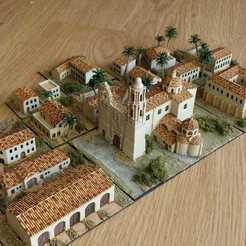Pueblo.jpeg Télécharger fichier STL Des bâtiments texturés pour le paysage • Modèle à imprimer en 3D, FluS