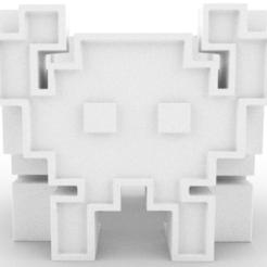 R1.PNG Télécharger fichier STL gratuit Pot de fleurs Aliens Invader - Pot Aliens Invaders • Plan imprimable en 3D, FluS