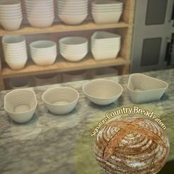 Descargar STL gratis Cestas para la prueba de pan, Balkhnarb