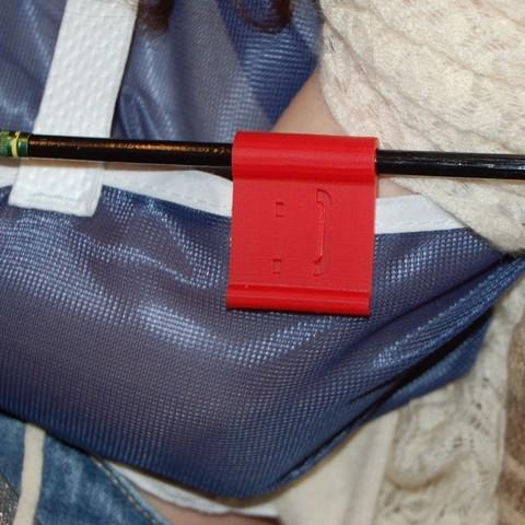 Download free 3D printing templates Dixon Ticonderoga Pencil Clip, Balkhnarb