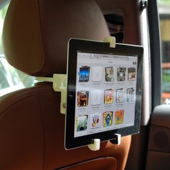 Free 3D print files Headrest Mount for iPad Holder, Balkhnarb