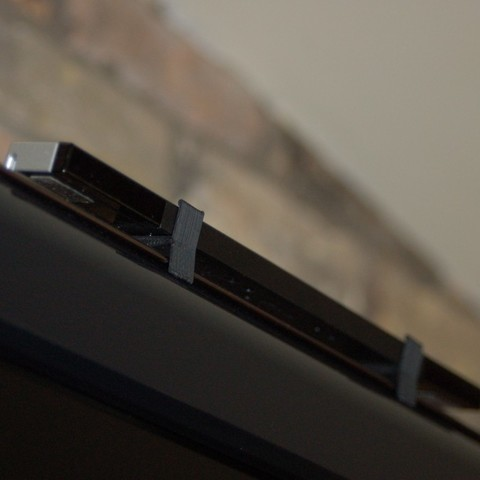 Download free STL Wii Sensor Bar Mount, Balkhnarb