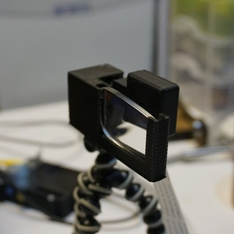 Free STL Tripod Raspberry Pi Camera Mount and Corrective Lense, Balkhnarb