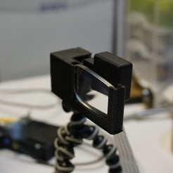 Download free STL file Tripod Raspberry Pi Camera Mount and Corrective Lense, Balkhnarb