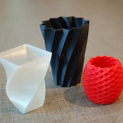 Free 3D printer files Square Vase, Cup, and Bracelet Generator, Balkhnarb