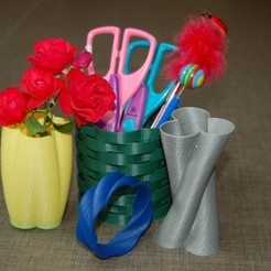 Download free STL file Cylinder Vase, Cup, and Bracelet Generator, Balkhnarb
